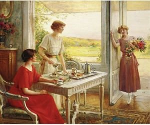 Reproduction oil paintings - Albert Lynch - Time For Tea