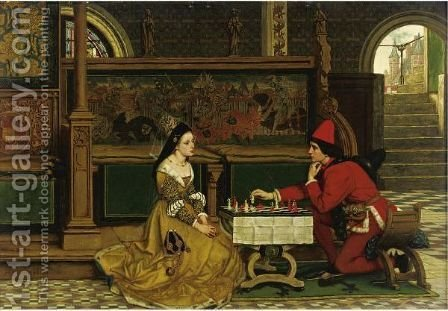 His Move by Albrecht Frans Lieven Vriendt - Reproduction Oil Painting