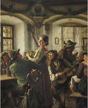 Famous paintings of Taverns: Inside A Bavarian Tavern