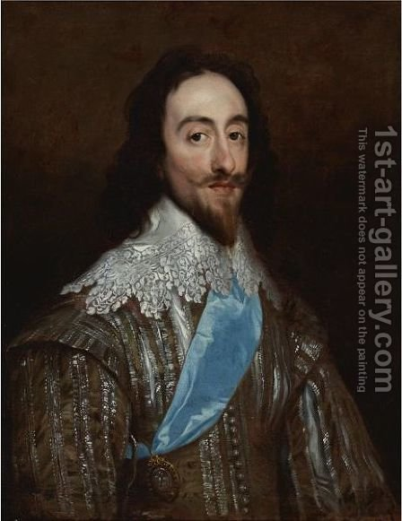 Portrait Of Charles I by (after) Daniel The Elder Mijtens - Reproduction Oil Painting