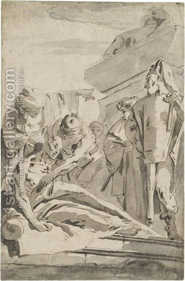The Death Of Seneca 2 by Giovanni Battista Tiepolo - Reproduction Oil Painting