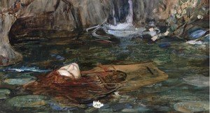 Reproduction oil paintings - Waterhouse - Study For Nymphs Finding The Head Of Orpheus