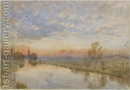 The Avon. Salisbury by Albert Goodwin - Reproduction Oil Painting