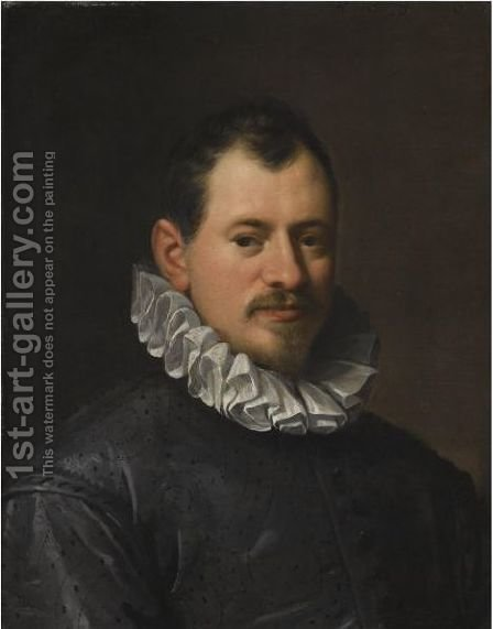 Portrait Of The Goldsmith Jacopo Bilivert (1550-1603) by Hans Von Aachen - Reproduction Oil Painting