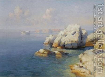 Rocky Shore by Aleksei Vasilievich Hanzen - Reproduction Oil Painting