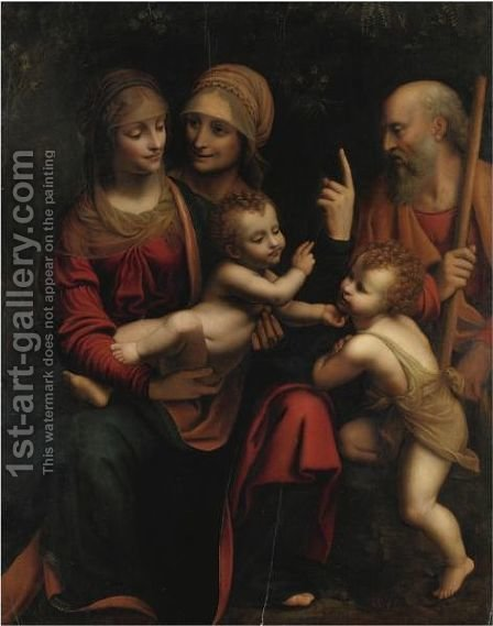 Sacra Famiglia by (after) Bernardino Luini - Reproduction Oil Painting