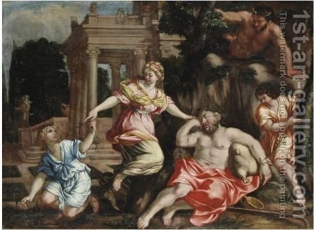 Ebrezza Di Sileno by (after) Cortona, Pietro da (Berrettini) - Reproduction Oil Painting