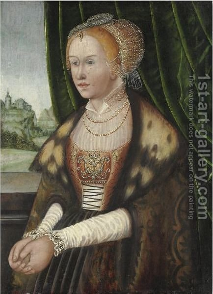 Ritratto Di Gentildonna by (after) Lucas The Elder Cranach - Reproduction Oil Painting