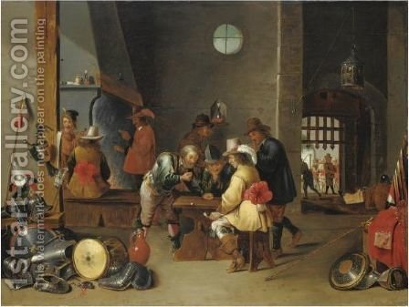 La Guardia by (after) David The Younger Teniers - Reproduction Oil Painting