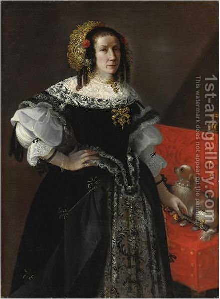 Ritratto Della Signora Silvassia Savini by (after) Pier Francesco Cittadini - Reproduction Oil Painting
