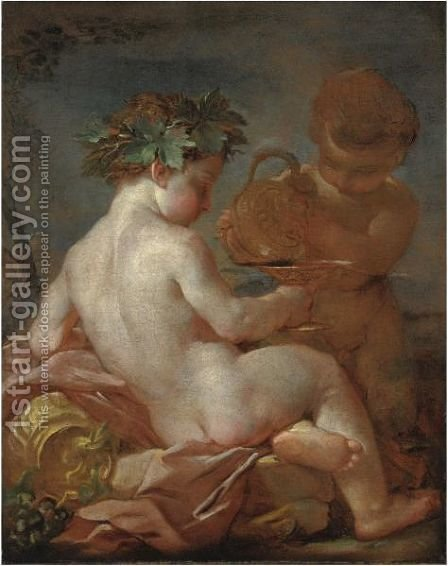 Bacchino by Italian School - Reproduction Oil Painting