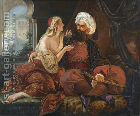 Ali Pasha And Kira Vassiliki by (after) Emil Jacobs - Reproduction Oil Painting