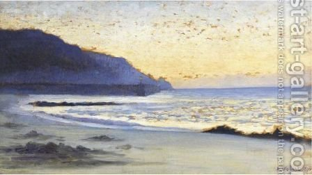 La Mer A Siouville by Alphonse Osbert - Reproduction Oil Painting