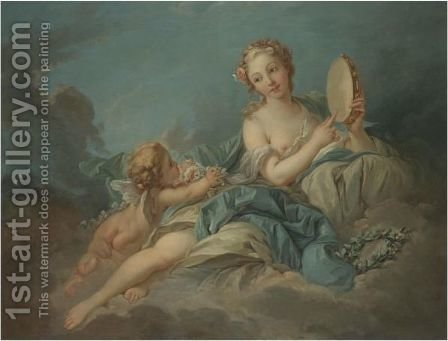 Erato by (after) Francois Boucher - Reproduction Oil Painting