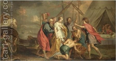 The Return Of Briseis To Achilles by (after) Sir Peter Paul Rubens - Reproduction Oil Painting