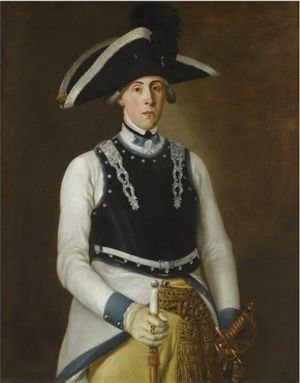 German School reproductions - Portrait Of An Admiral, Three-Quarter-Length, In His Navy Uniform And Black Feathered Hat