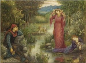 Reproduction oil paintings - Maria Euphrosyne Spartali, later Stillman - Dante's Vision Of Leah And Rachel