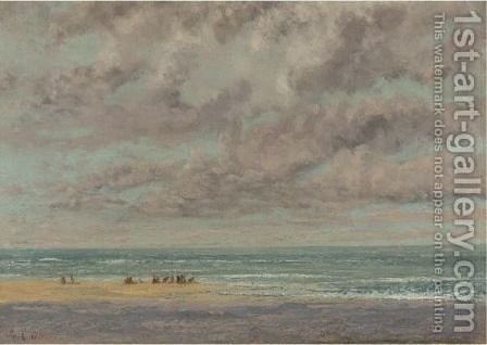 Marine, Les Equilleurs by Gustave Courbet - Reproduction Oil Painting