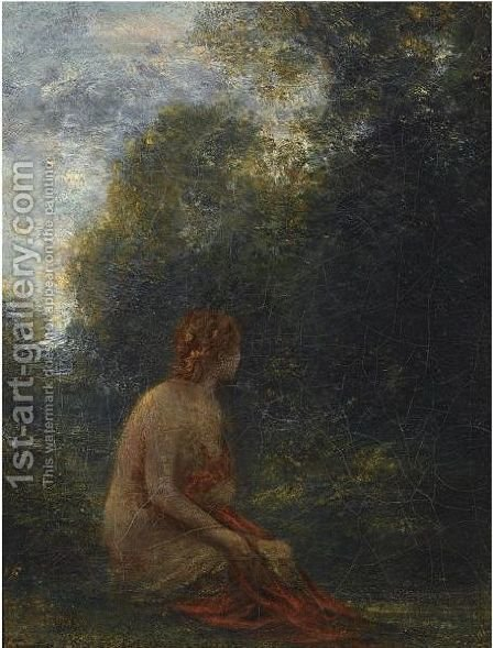 The Resting Nymph by Ignace Henri Jean Fantin-Latour - Reproduction Oil Painting