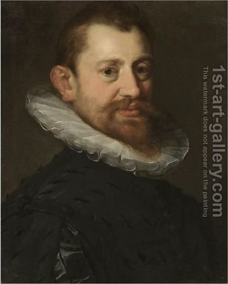 Portrait Of A Gentleman, Bust Length by Hans Von Aachen - Reproduction Oil Painting