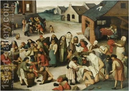 The Seven Acts Of Mercy by (after) Pieter The Younger Brueghel - Reproduction Oil Painting