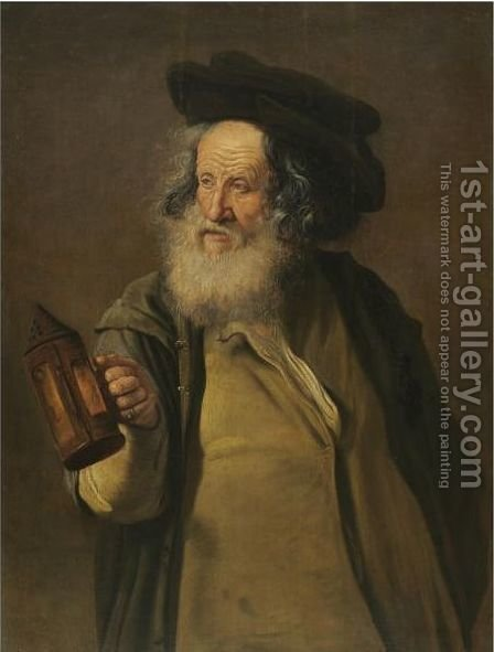 Diogenes Brandishing A Lantern by (after) Jacques Des Rousseaux - Reproduction Oil Painting