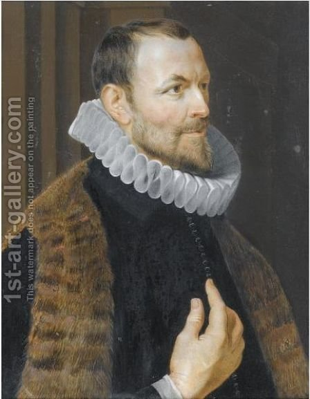 Portrait Of Nicolaas Rockox by (after) Philip Fruytiers - Reproduction Oil Painting