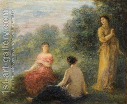 Trois Nymphes Pres D'Une Source by Ignace Henri Jean Fantin-Latour - Reproduction Oil Painting