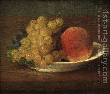 Peches Et Raisins by Ignace Henri Jean Fantin-Latour - Reproduction Oil Painting