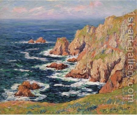 La Cote Sauvage by Henri Moret - Reproduction Oil Painting