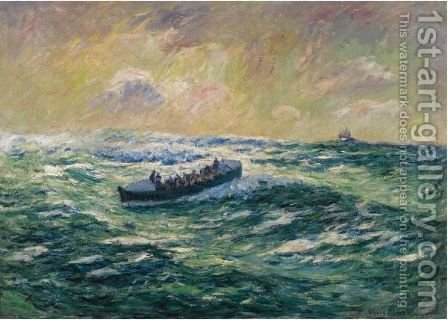 Le Bateau De Sauvetage A Audierne, Finistere by Henri Moret - Reproduction Oil Painting