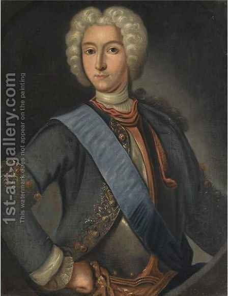 Portrait Of Peter II by (after) Johann Heinrich Wedekind - Reproduction Oil Painting