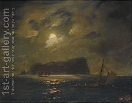 Shipping Off The Island Of Ischia by Ivan Konstantinovich Aivazovsky - Reproduction Oil Painting