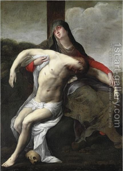 Pieta by Italian School - Reproduction Oil Painting