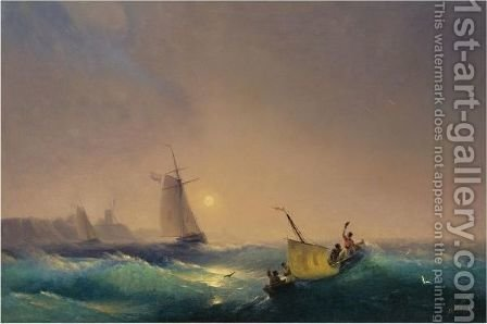 Shipping Off The Dutch Coast by Ivan Konstantinovich Aivazovsky - Reproduction Oil Painting