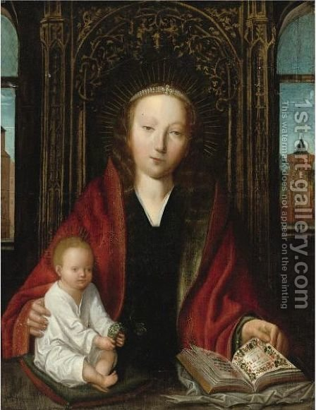 Madonna And Child by (after) Quinten Metsys - Reproduction Oil Painting