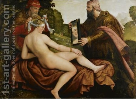 Susanna And The Elders by (after) Lambert Sustris - Reproduction Oil Painting