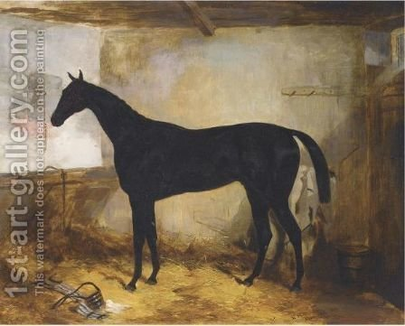 The Sheriff In A Stable by Harry Hall - Reproduction Oil Painting