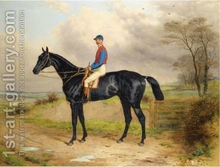 Lord Poulett's Celebrated Racehorse The Lamb With George Ede Up by Harry Hall - Reproduction Oil Painting