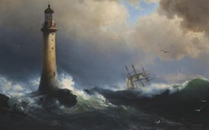 Famous Paintings Of Lighthouses Shipping Off The Eddystone Lighthouse