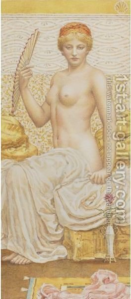 The Toilette by Albert Joseph Moore - Reproduction Oil Painting