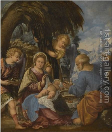Rest On The Flight To Eygpt by (after) Paolo Veronese (Caliari) - Reproduction Oil Painting