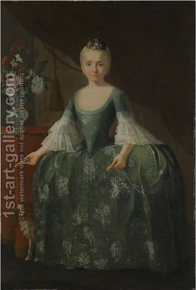 Portrait Of The Infanta Maria Luisa De Borbon (1745-1792) by Giuseppe Bonito - Reproduction Oil Painting