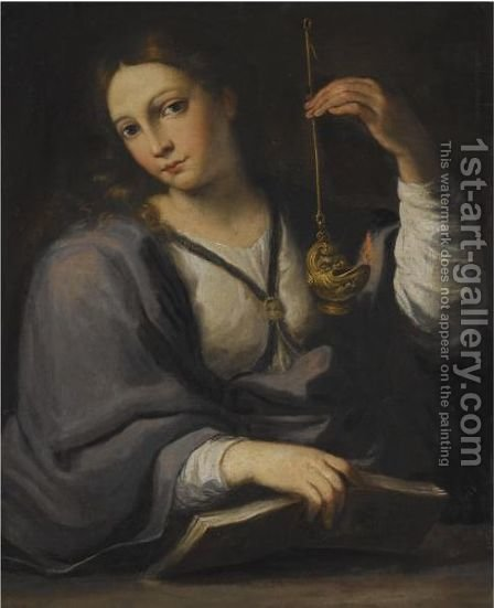 An Allegory Of Wisdom by (after) Giovanni Domenico Cerrini - Reproduction Oil Painting
