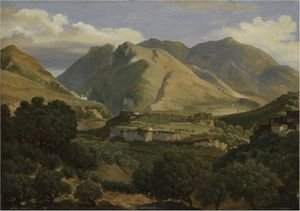 Reproduction oil paintings - Thomas Ender - The Monastery Of St Benedict In Subiaco
