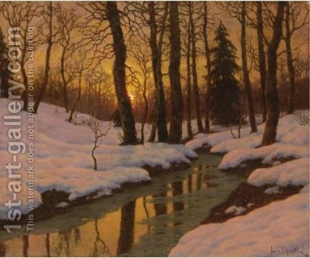 Winter Sunset 2 by Ivan Fedorovich Choultse - Reproduction Oil Painting