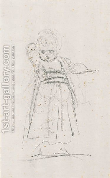 Etude De Petite Fille by (after) Sir Joshua Reynolds - Reproduction Oil Painting