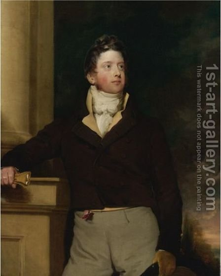 Portrait Of A Young Man In Black by (after) Samuel Lane - Reproduction Oil Painting