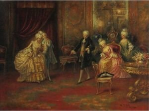 Reproduction oil paintings - A. Zoffoli - The Dance Lesson