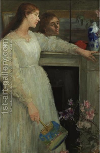 The Little White Girl by (after) James Abbott McNeill Whistler - Reproduction Oil Painting